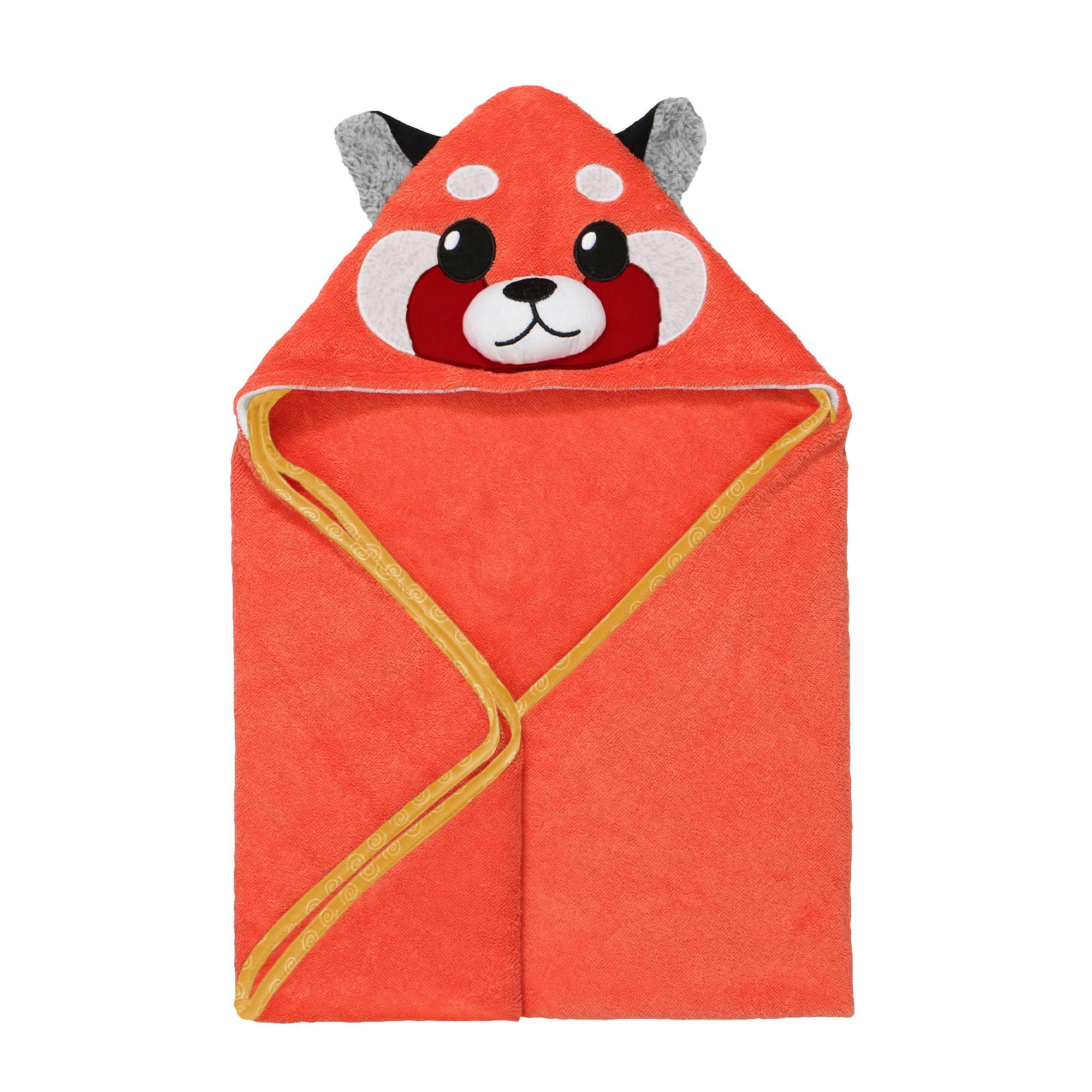 Sortie de bain pour bébés Remi Panda Rouge-1