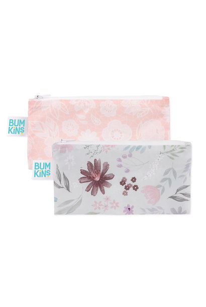 Paquet de 2 sacs à collation réutilisables - Floral