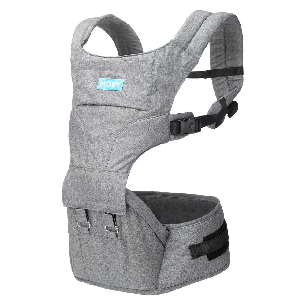 Porte bébé siège de hanche 2 en 1 - Gris-1