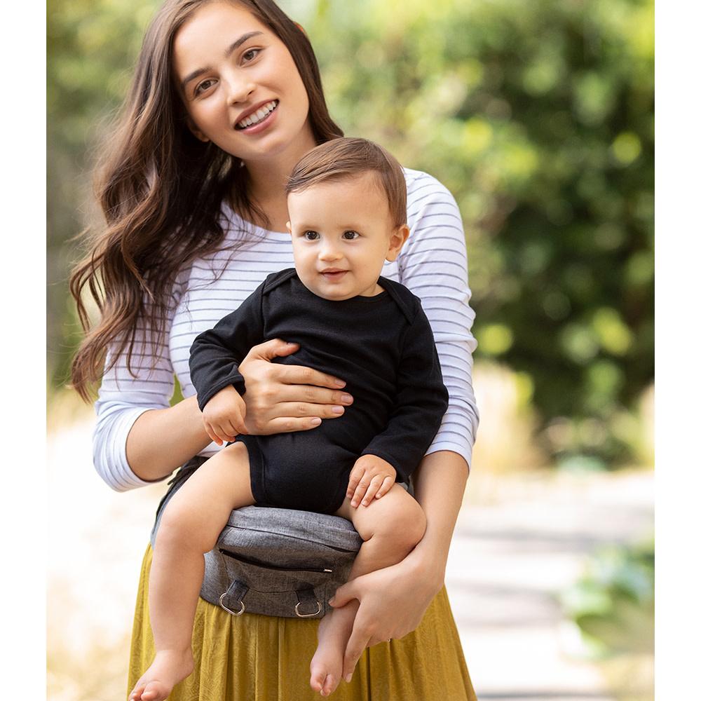 Porte bébé siège de hanche 2 en 1 - Gris-2