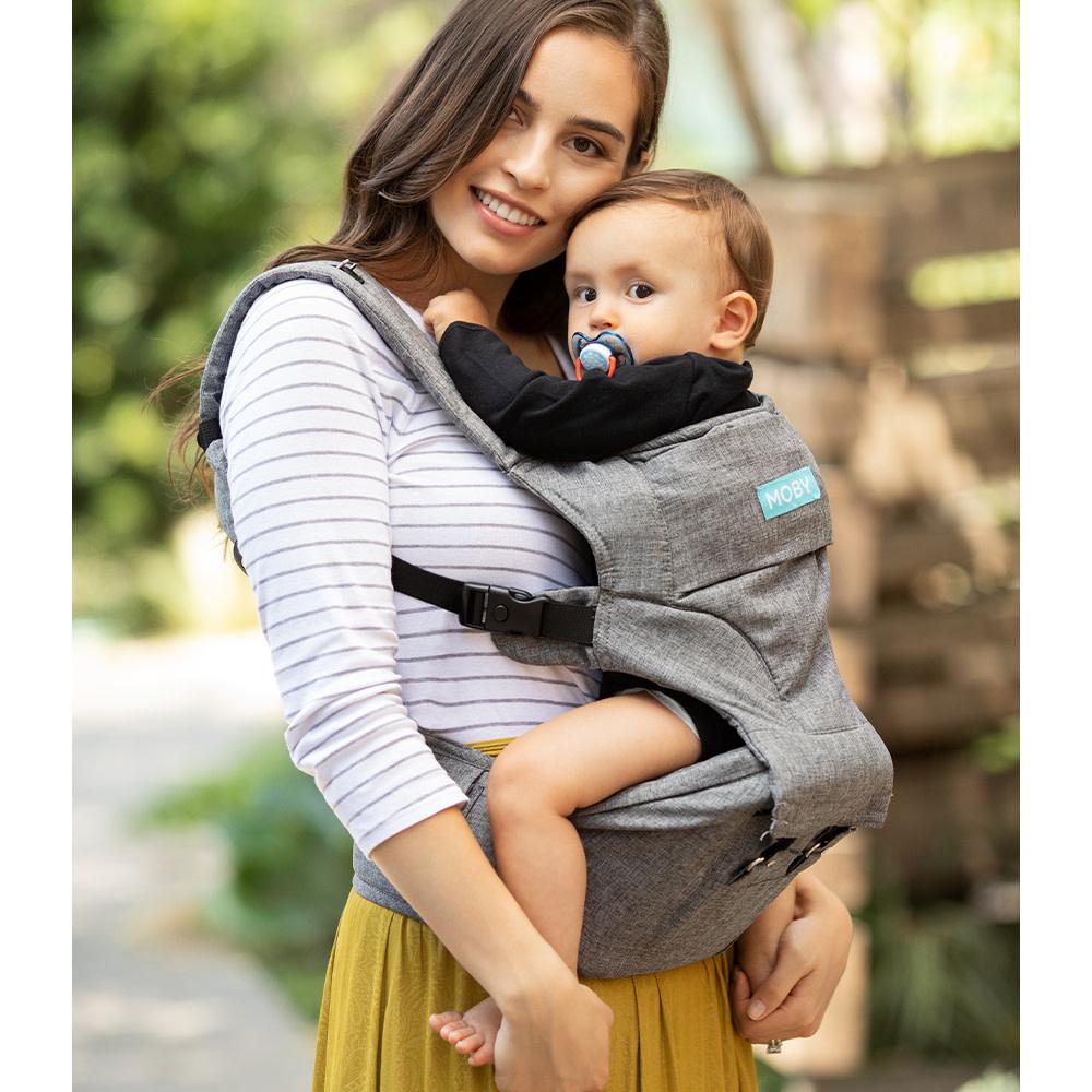 Porte bébé siège de hanche 2 en 1 - Gris-3