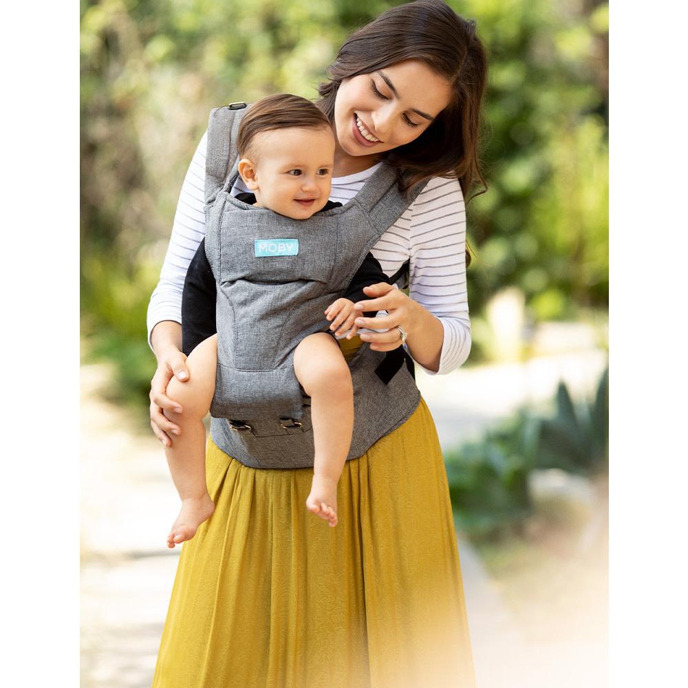 Porte bébé siège de hanche 2 en 1 - Gris-4