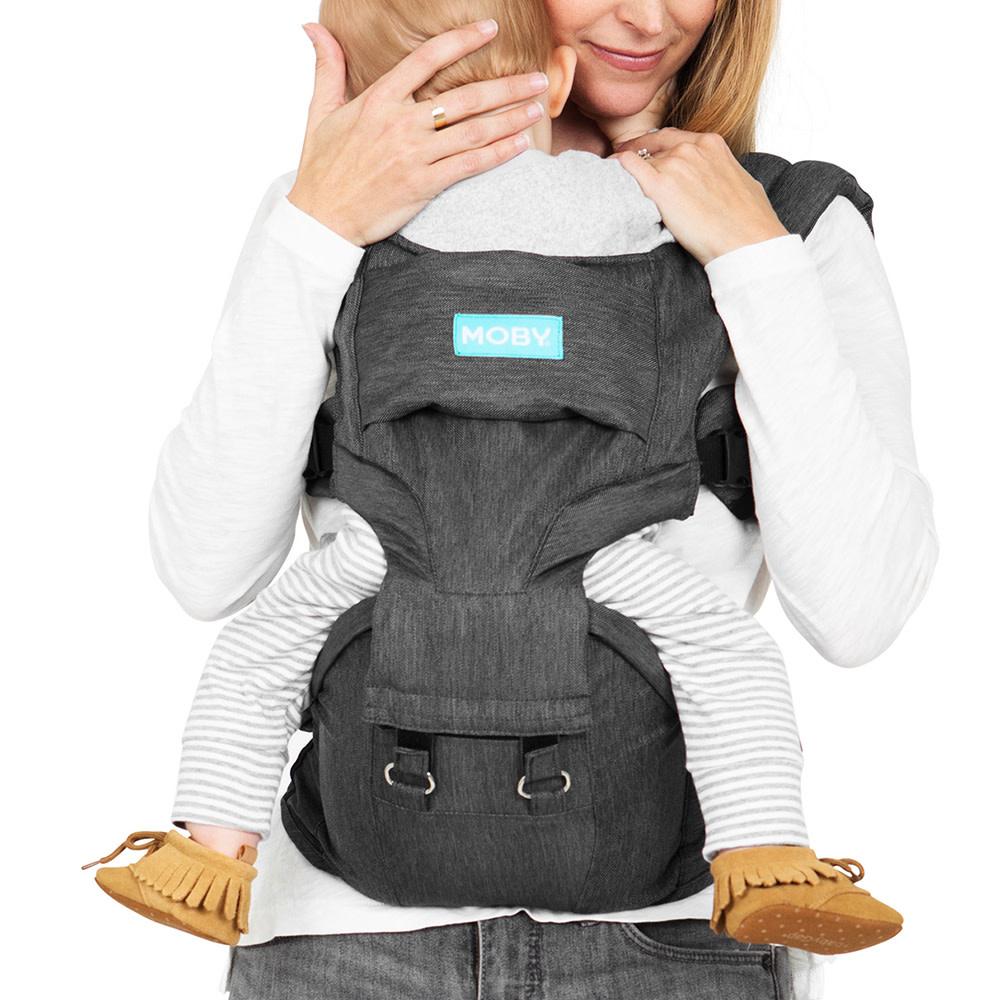 Porte bébé siège de hanche 2 en 1 - Gris-5
