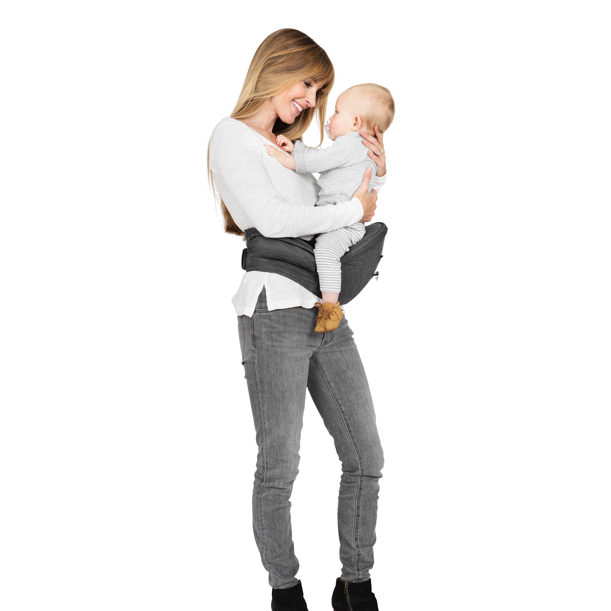 Porte bébé siège de hanche 2 en 1 - Gris-6