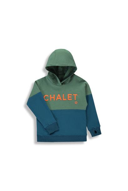 Hoodie Chalet - Color Block Bleu