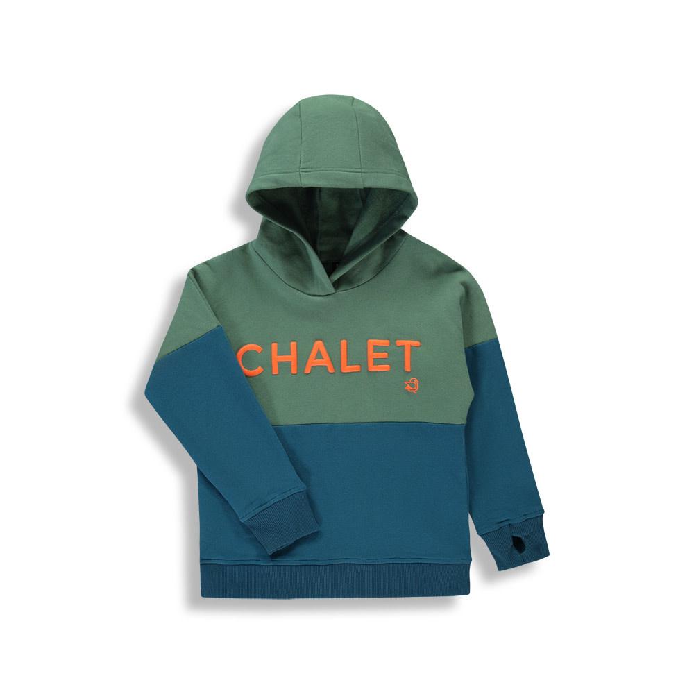 Hoodie Chalet - Color Block Bleu-1