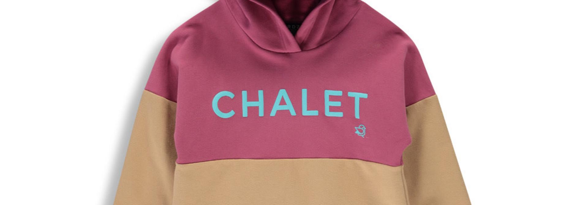 Hoodie Chalet - Color Block Mauve