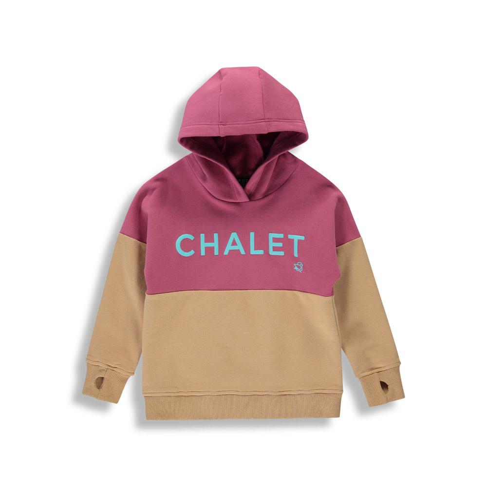 Hoodie Chalet - Color Block Mauve-1