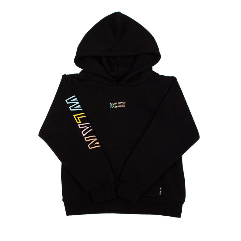 Hoodie Rainbow Noir-1