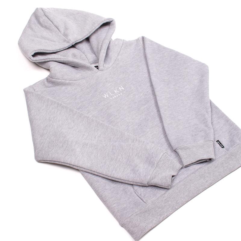 Hoodie Basic Gris-5
