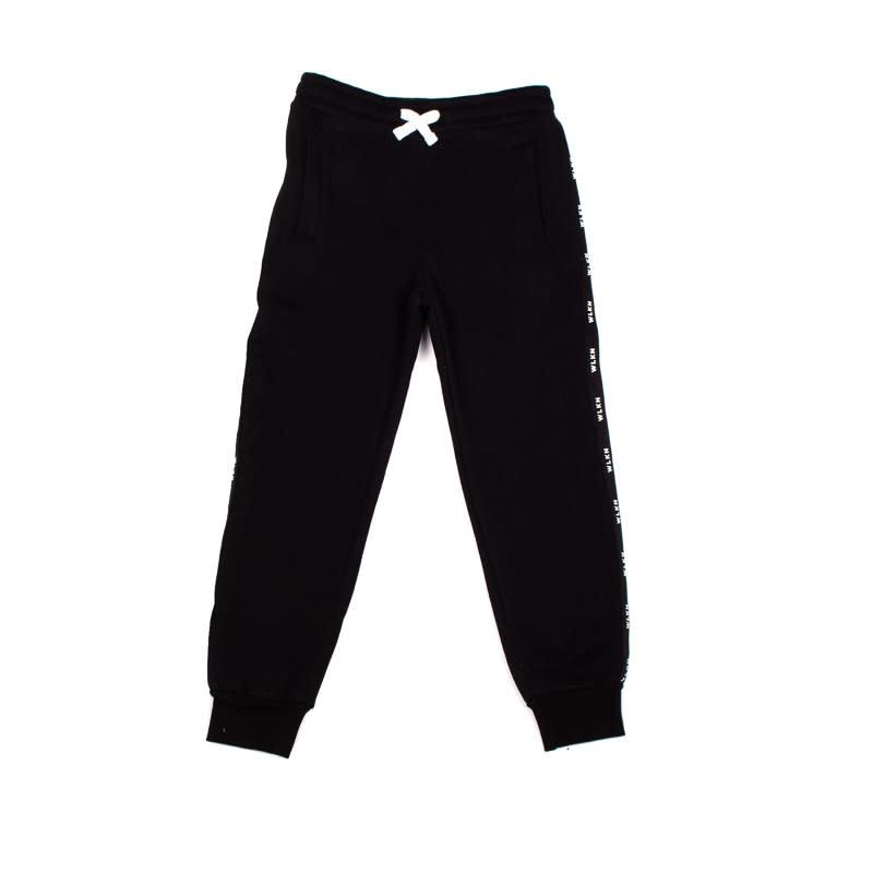 Pantalon Noir Bande-4