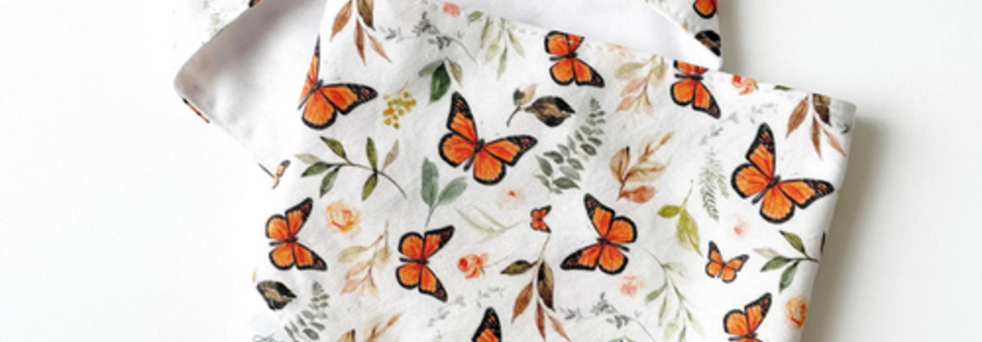 Bavoir de dentition - Papillons d'Automne