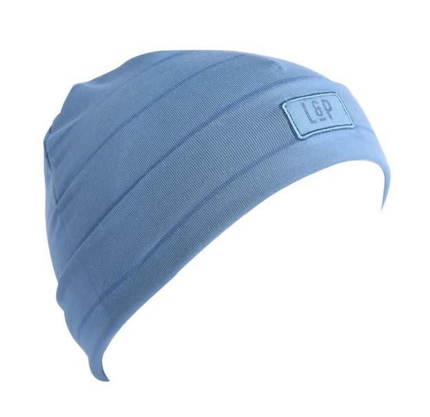 Tuque  Coton - BOSTON V20 Bleu Tendre et Bleu Mer-1