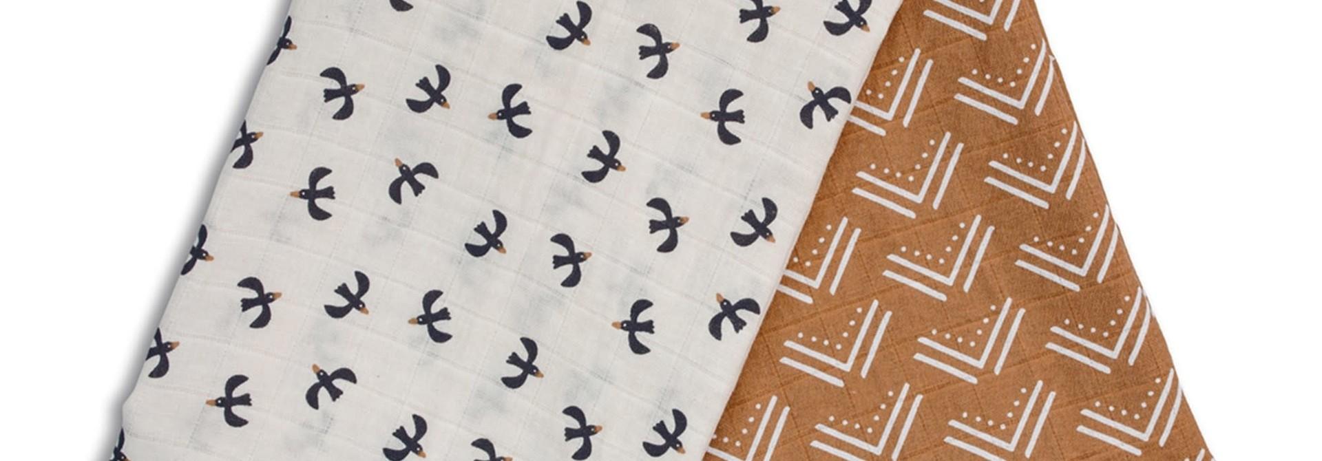 Mousseline de coton(2) - Boho/Oiseaux