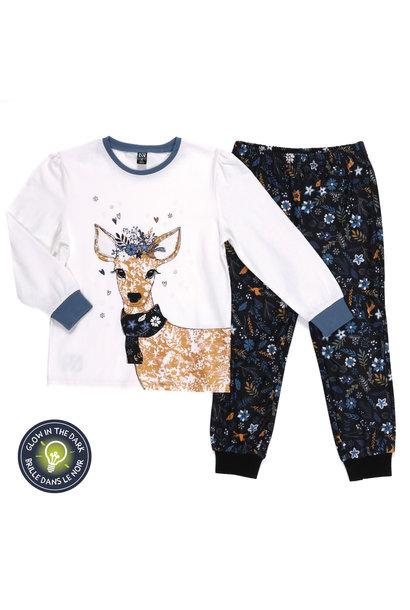 Pyjama Chevreuil Fleuris