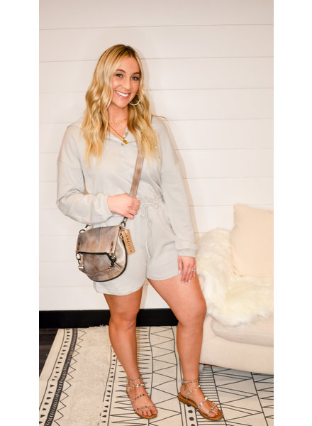 CASUAL FRENCH TERRY HOODIE ROMPER