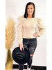SOLID LONG SLEEVE PUFF TOP