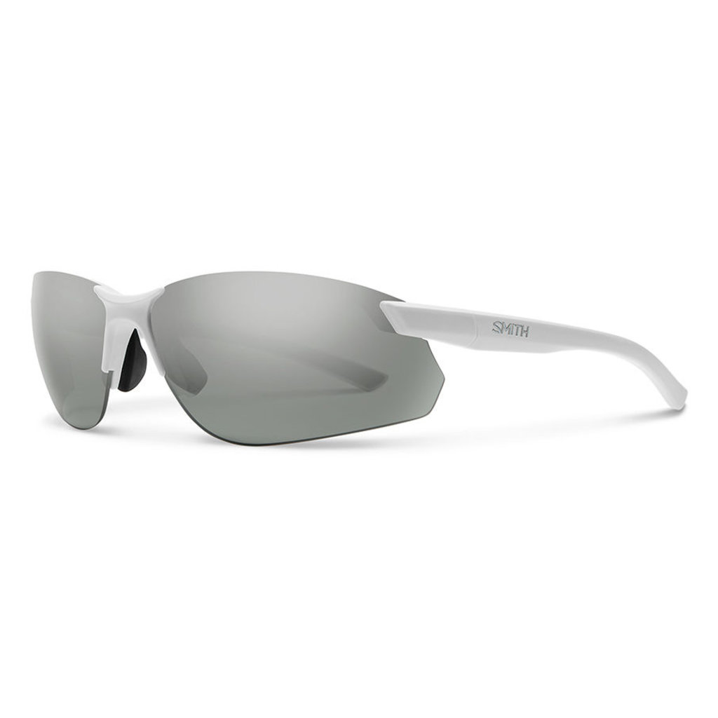 SMITH PARALLEL MAX 2 MATTE WHITE POLARIZED PLATINUM MIRROR
