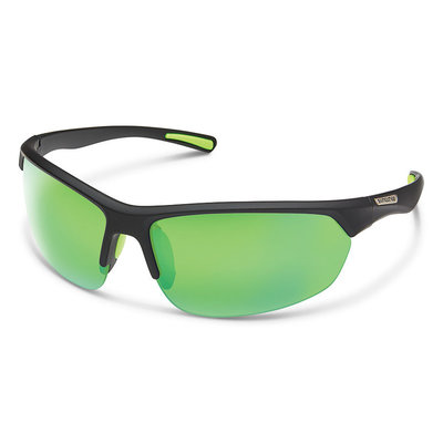 Suncloud Slice Black Polar Green Mirror