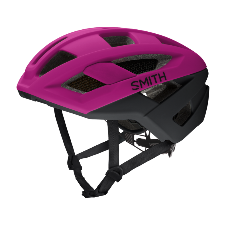 SMITH Route MIPS Bike Helmet: Matte Hibiscus / Black Large