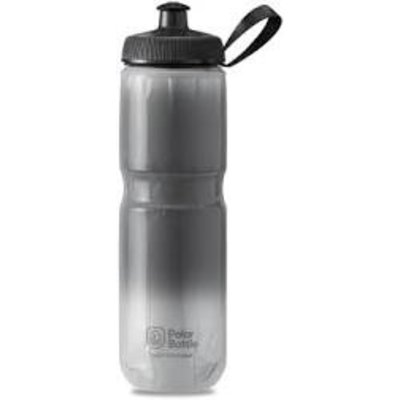 Polar Bottles Sport Fade Insulated Water Bottle - 24oz, Charcoal/Silver