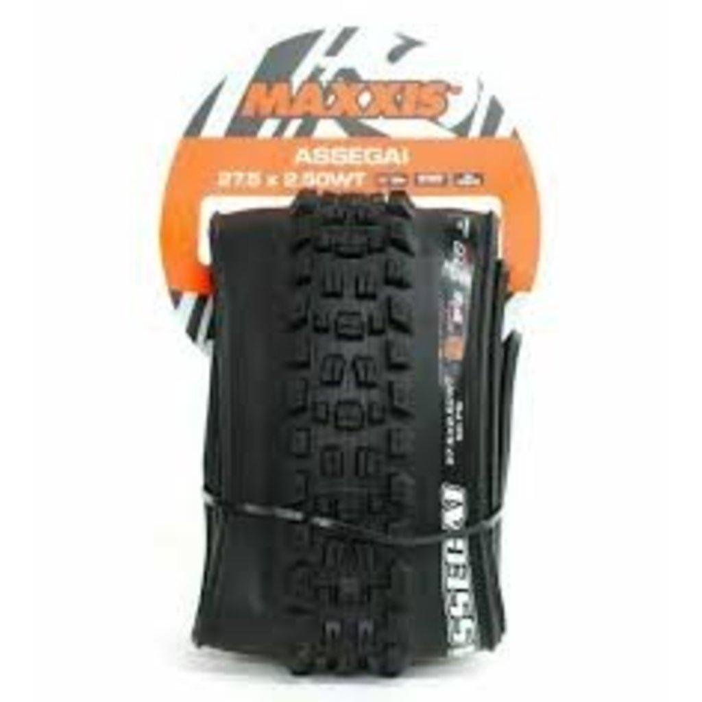 Maxxis Assegai Tire - 29 x 2.5, Tubeless, Folding, Black, 3C Maxx Grip, DH, Wide Trail