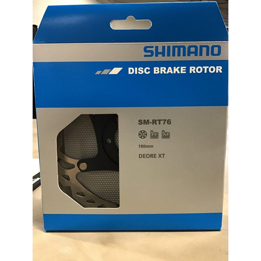 Shimano Deore XT RT76 XT 6-bolt disc rotor 160 mm Silver / Black 160 mm