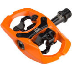 "iSSi iSSi Trail III Pedals - Dual Sided Clipless with Platform, Aluminum, 9/16"", Hi-Vis Orange"