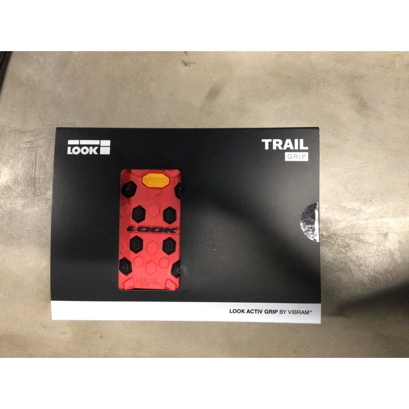 Look LOOK TRAIL GRIP FLAT PEDAL: RED