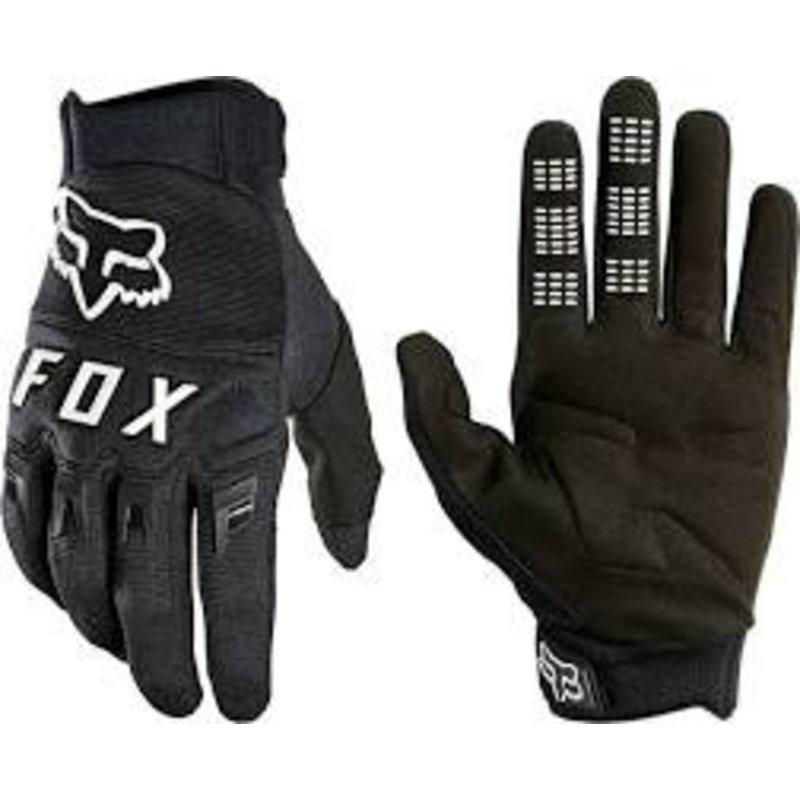 Fox Racing Dirtpaw Gloves - Black/White, Full Finger, Men's, X-Large