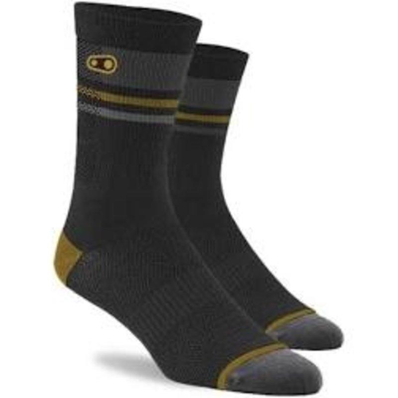 Crank Brothers Trail Socks - Black & Gold LG/XL
