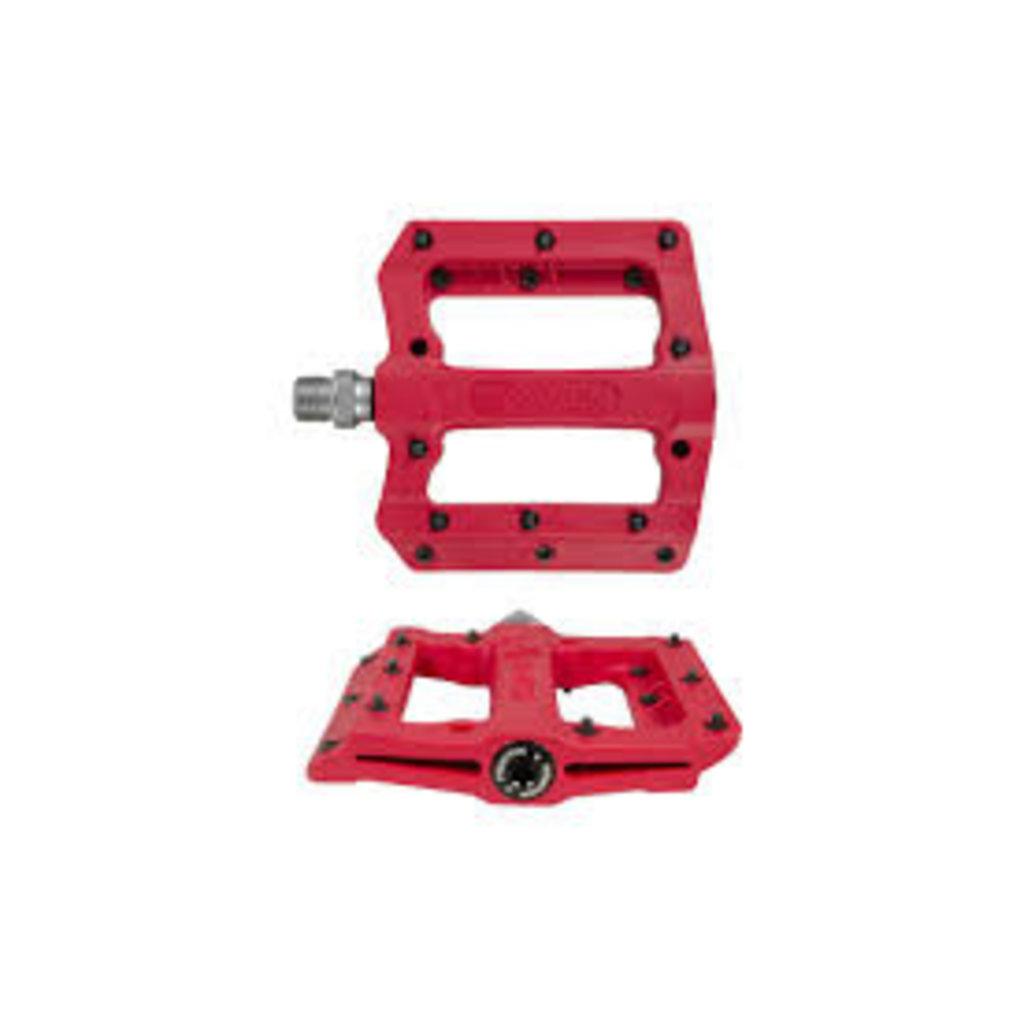 "Fyxation Fyxation Mesa MP Pedals - Platform, Composite/Plastic, 9/16"", Red"
