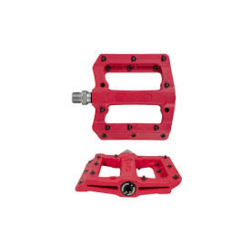 "Fyxation Mesa MP Pedals - Platform, Composite/Plastic, 9/16"", Red"
