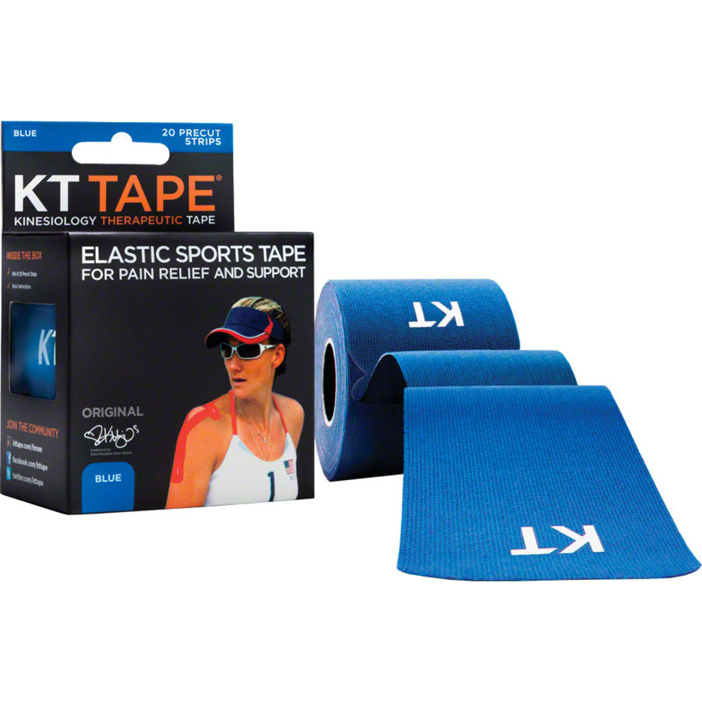 KT Tape KT Tape Kinesiology Therapeutic Body Tape: Roll of 20 Strips, Blue