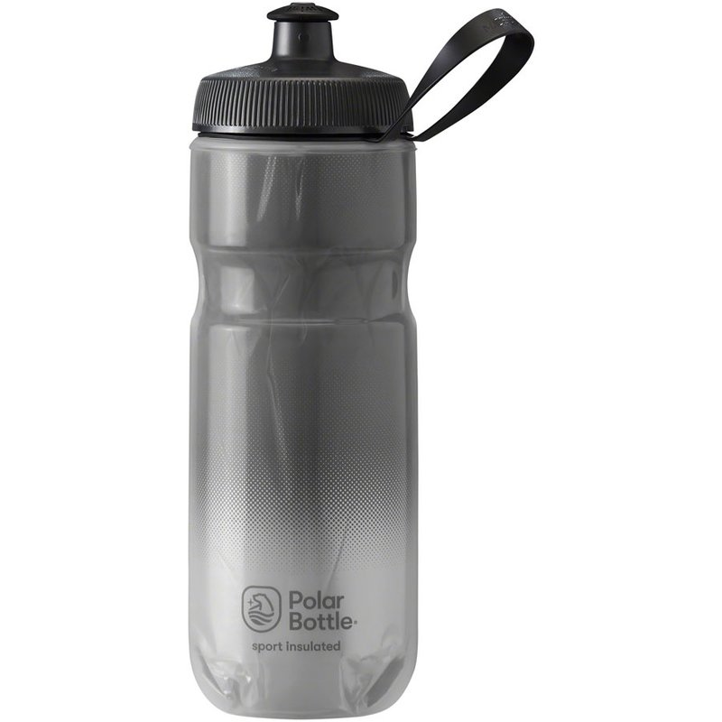 Polar Bottles Sport Fade Insulated Water Bottle - 20oz, Charcoal/Silver