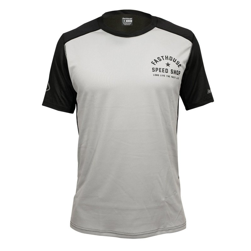 Fasthouse ALLOY SS STAR JERSEY, SILVER/BLACK - 2X
