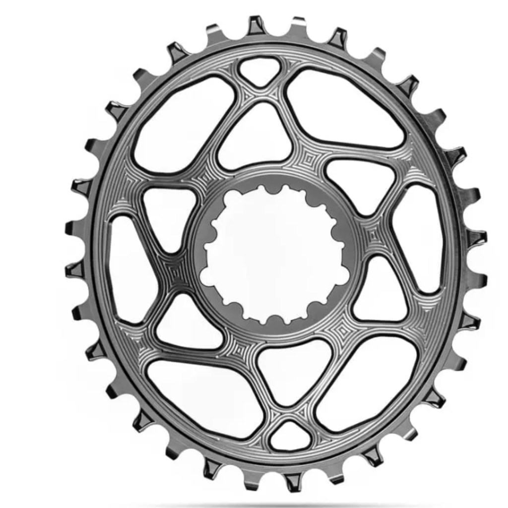 Absolute Black Absolute Black Oval SRAM DM (Boost 3mm Offset) Chainring, 36T - Blk