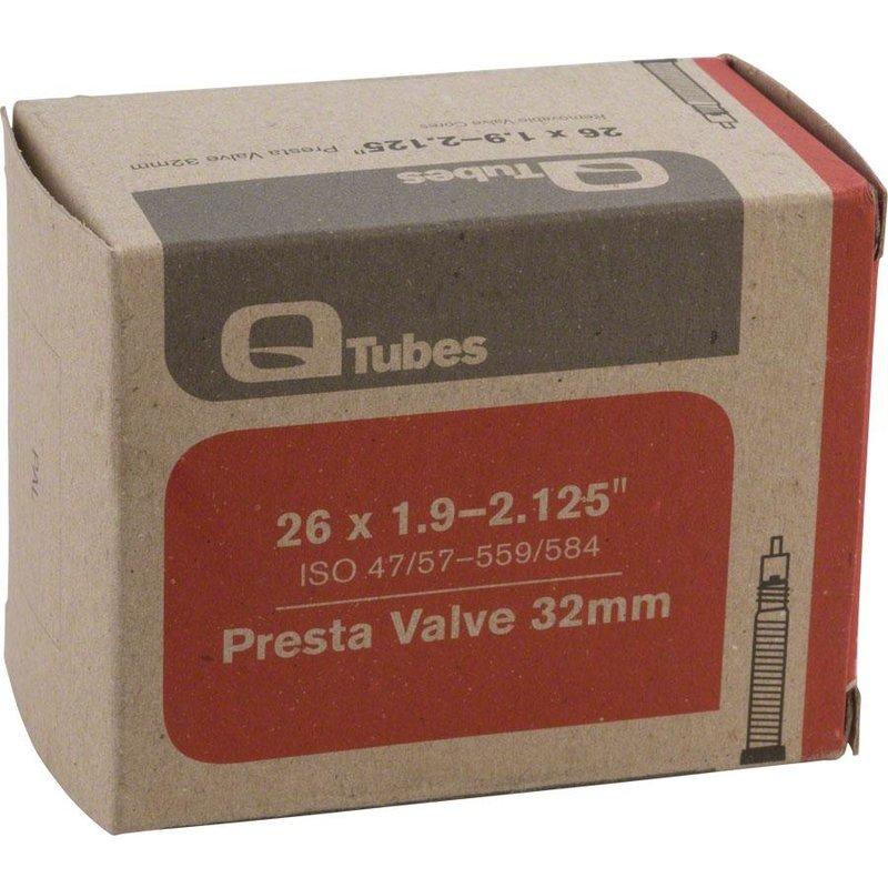 """Q-Tubes Q-Tubes 26"""" x 1.9-2.125"""" 48mm Presta Valve Tube 171g"""