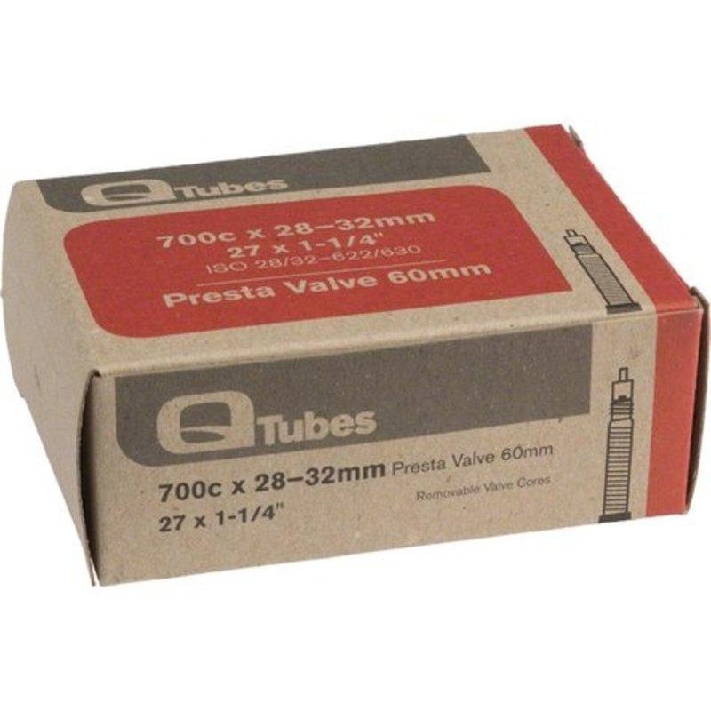 Q-Tubes Q-Tubes 700c x 28-32mm 60mm Presta Valve Tube 129g