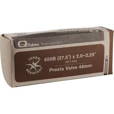 """Q-Tubes Q-Tubes Thorn Resistant 27.5 584mm 2.0""""-2.25"""" 52-58mm 48mm Presta Valve Tube"""