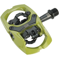 """iSSi iSSi Trail III Pedals - Dual Sided Clipless with Platform, Aluminum, 9/16"""", Army Green"""