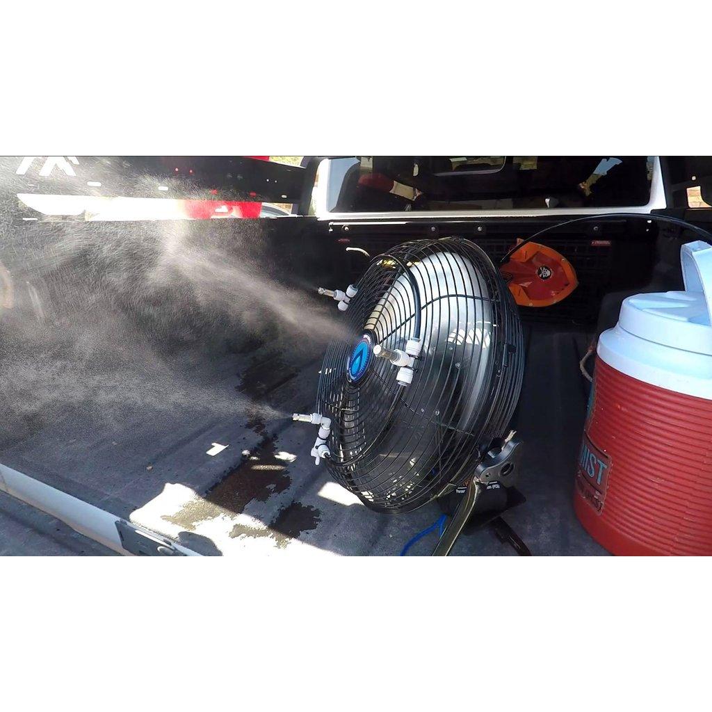 Extreme Mist Extreme Mist Portable Misting Fan w/ Solar Panel & PCS Pump Unit