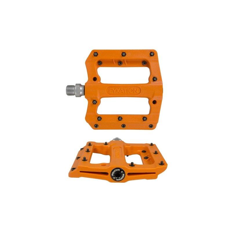 "Fyxation Mesa MP Pedals - Platform, Composite/Plastic, 9/16"", Orange"