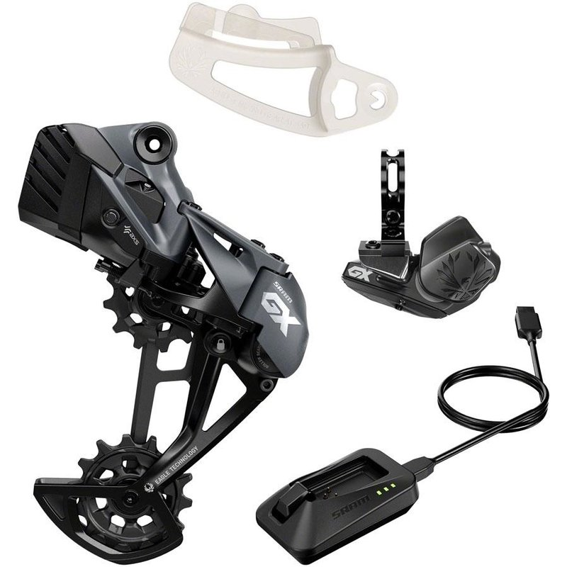 SRAM SRAM GX Eagle AXS Upgrade Kit - Rear Derailleur, Battery, Eagle AXS Controller w/ Clamp, Charger/Cord, Chain Gap Tool, Black