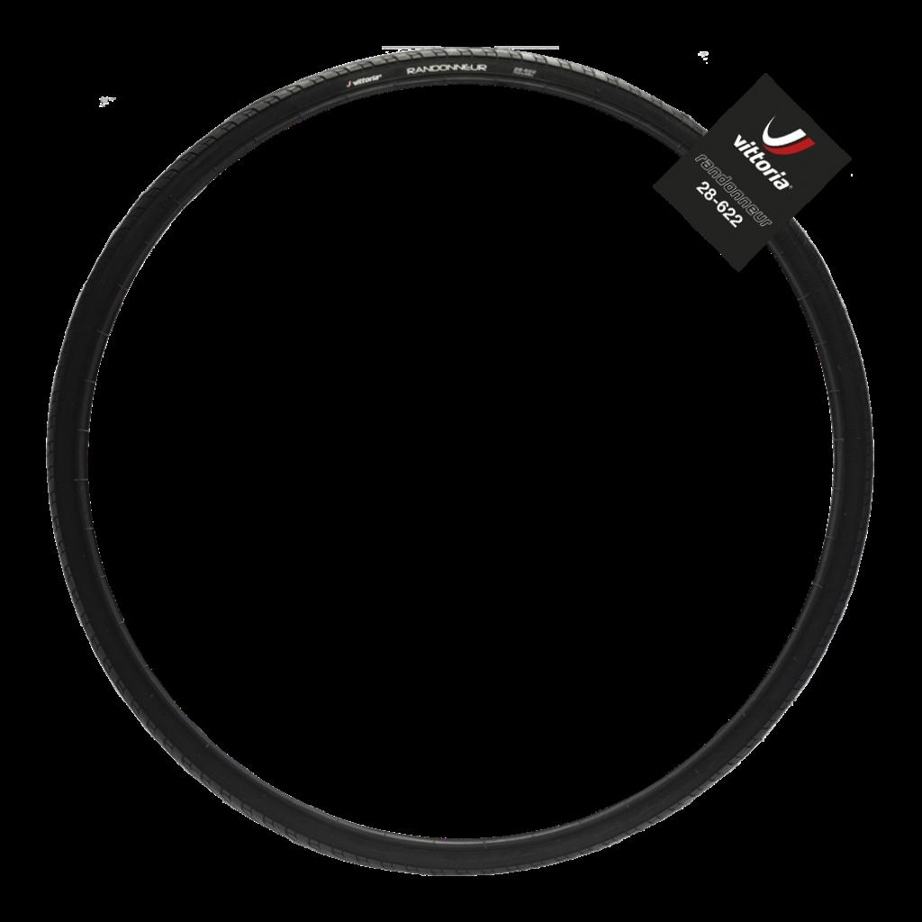 Vittoria Vittoria Randonneur Classic Tire - 700 x 25, Clincher, Wire, Black, 33tpi