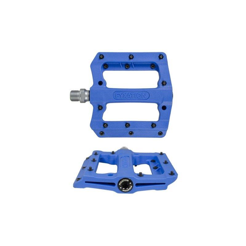 """Fyxation Fyxation Mesa MP Pedals - Platform, Composite/Plastic, 9/16"""", Blue"""