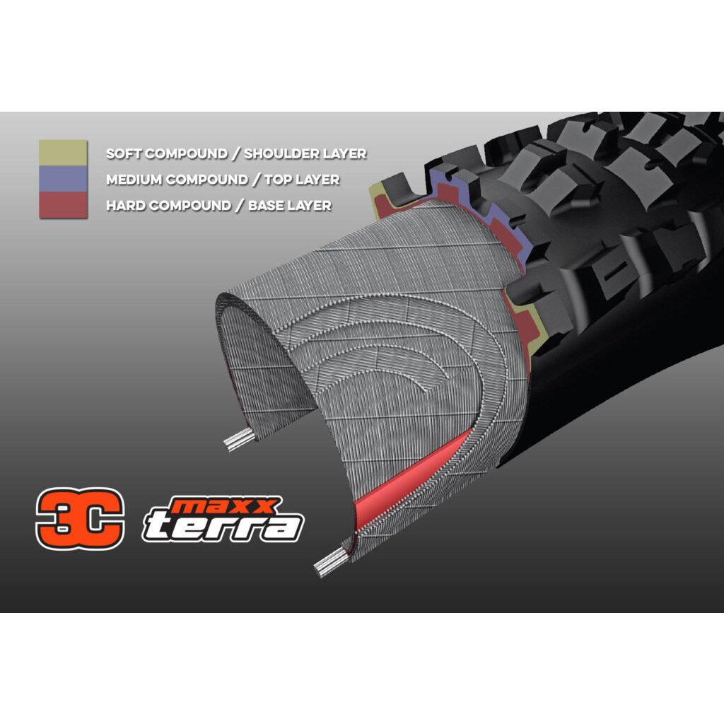 Maxxis Maxxis Minion DHR II Tire - 27.5 x 2.3, Tubeless, Folding, Black, 3C Maxx Terra, EXO
