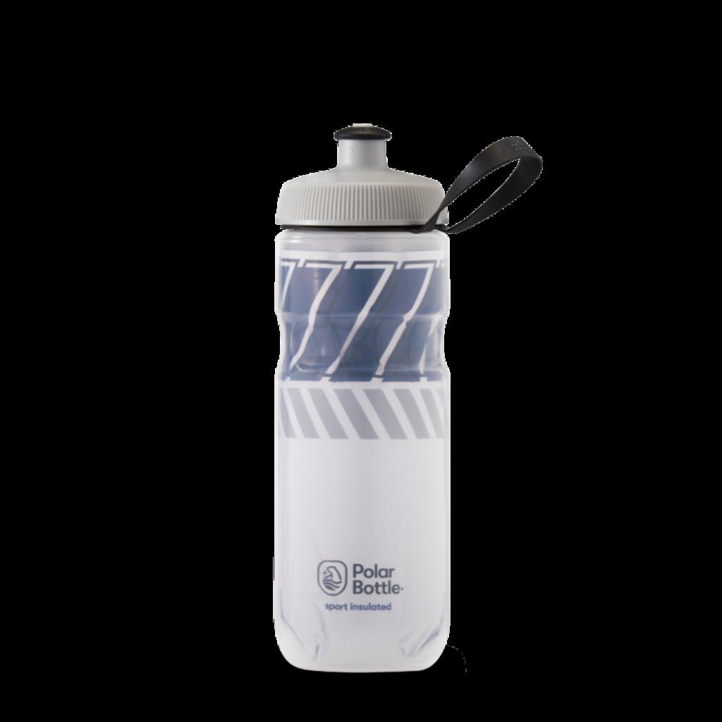 Polar Bottles Polar Bottles Sport Insulated Tempo Water Bottle - 24oz, White/Navy