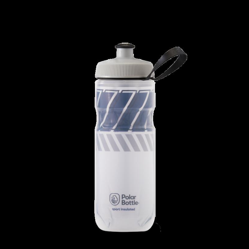 Polar Bottles Polar Bottles Sport Insulated Tempo Water Bottle - 20oz, White/Navy