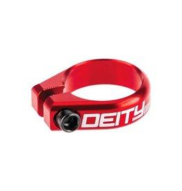 Deity Deity, Circuit, Seatpost Clamp, 34.9mm, Red